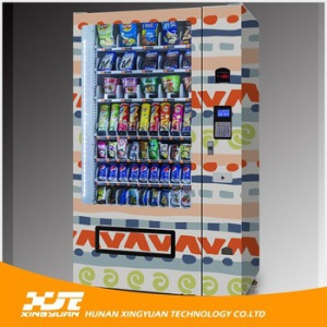 Customized Refrigerated Combo Snack and Drink Vending Machine