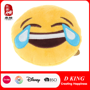 En71 Certificate Plush Stuffed Emoji Cushion for Kids