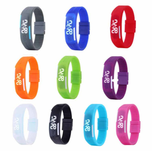 Fashion Watches Silicone Wristwatch Charm Touch LED Watch (DC-872)