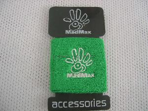 Vibrant Green Sport Wristbands with Spandex and Cotton