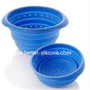 Foldable Plastic Silicon Filter with Handle