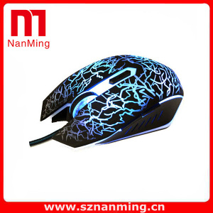 Color Changeable Wired Optical LED Light Gaming Mouse for PC Laptop