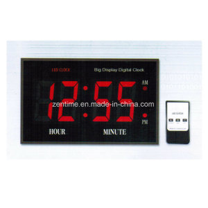 Jumbo Remote Control LED Digital Wall Time Clock