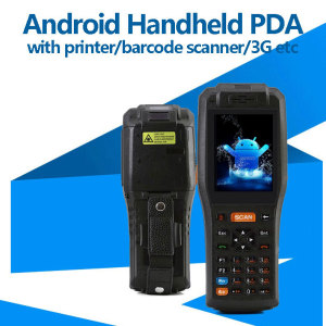 Android Handheld Terminal with Printer, Barcode Scanner, RFID Reader