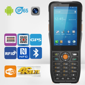 Jepower Ht380k Quad-Core Android Handheld PDA Support Barcode/NFC/4G-Lte
