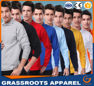 High Quality Factory Price Customized Plain Embroidery Dry Fit Long-Sleeve Mens Polo Shirts