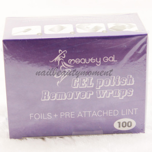 100 Nail Art Polish Remover Foil Wraps Manicure Products (NF06)