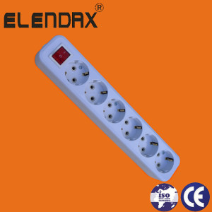 6 Hole Ce Socket Strips Extension Socket with Plug (E8006ES)