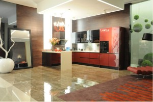 New Modern Style High Glossy Faced Kitchen Cabinet (FY321)