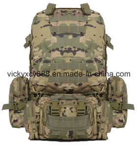Outdoor Sports Camouflage Hiking Mountaineering Camping Tactical Bag Backpack (CY3606)