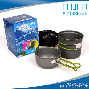 Hot Sale Aluminium Outdoor Cooking Set for 1-2person