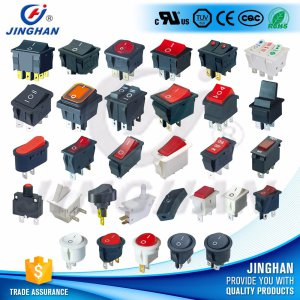 High Quality Jinghan Kcd Rocker Switch Round/Square Door Switch/Electronic Switch