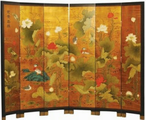 Antique Chinese Reproduction Painting Screen Lwl-29