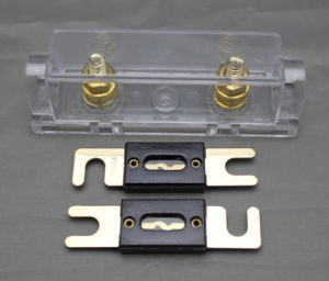 Anl Fuse Holder Distribution Inline 0 4 8 Ga Gold Plated Free 2X200A Anl Fuse