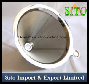 Stainless Steel Coffee Dripper, Perforated Mesh Strainer