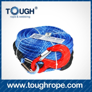 Winch for Boat Trailer Dyneema Synthetic 4X4 Winch Rope with Hook Thimble Sleeve Packed as Full Set
