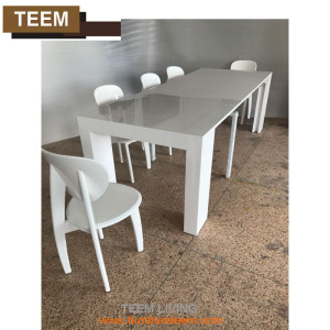 Natural Walnut Wooden Extendable Dining Table