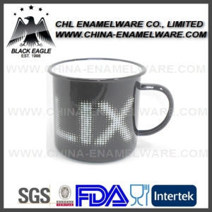 Promotional Wholesales 20oz Rolled Rim Steel Enamel Cup for Outdoor