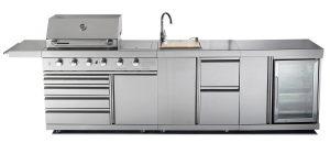 Full Stainless Steel Outdoor Gas BBQ Kitchen with Ce/Aga/CSA