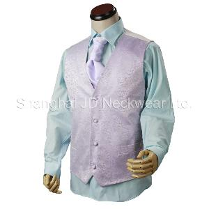 Silk Woven Waistcoat / Vest With Wedding Tie