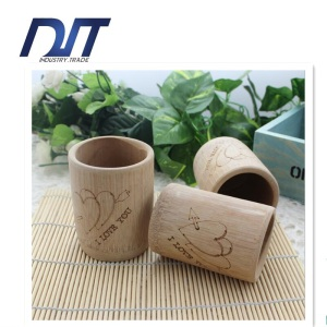 Environmentally Friendly Carbonization Carved Bamboo Cup with Custom Logo
