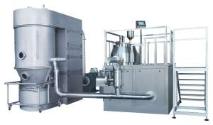 Wet Mixing High Shear Granulator and Fluid Bed Dryer