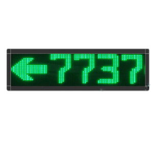 P7.62 Single Green Color 8 Digits LED Message Screen