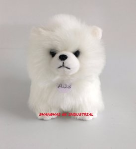 New Soft Lovely White Plush Animal -Dog