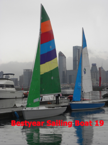 "Bestyear 19"" Sailing Boat for Racing"