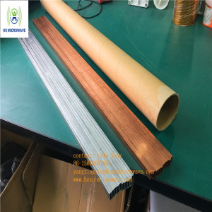 X Band Flat Rectangular Aluminum Copper Waveguide Tube