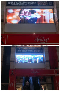 LED Transparent Display Glass Video Screen for Automotive Store