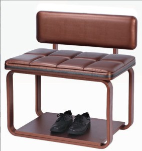 Luxury Metal Frame Leather Luggage Rack for Guest Room (J-62)