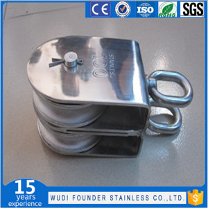 Mame Sanma Ss Swivel Block Pulley (with Eye End)