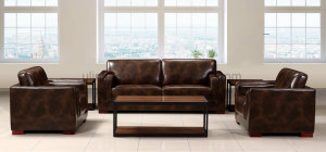 Factory Price Classic Design Leather Combination Office Sofa (HX-CF020)