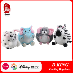 Round Plush Custom Stuffed Animals Toy for Kids