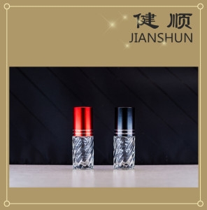 Glass Roll-on Cosmetic Bottle with Aluminum Bottle Cap