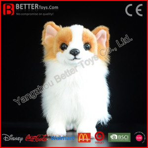 Realistic Stuffed Animal Lifelike Plush Soft Toy Pomeranian Dog