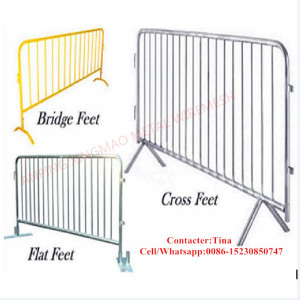 Galvanized/PVC Coated Road Crowed Control Barrier / Temporary Fence Barrier (XM-30)