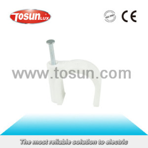 Cable Clips with White and Grey Color