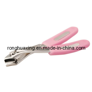 Side Nail Clipper with Plastic Grooved Handle N-312