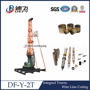 Geo Technical Investigation Equipments Drilling Rig Df-Y-2t
