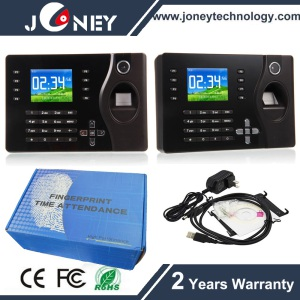 Biometric Fingerprint 125kHz Card Reader Time Attendance Clock TCP/IP USB