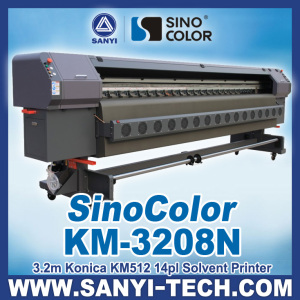 3.2m Konica Flex Printing Machine, Sinocolor Km-3208n, with Konica Km512/14pl Heads, 1440dpi