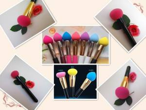Latex Free Makeup Brush Puffs Hydrophilic Material